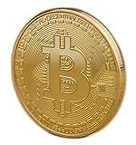 Bitcoin Münze zum Sammeln und als Deko - Sammlerstück mit Schutzhülle / Münzkapsel