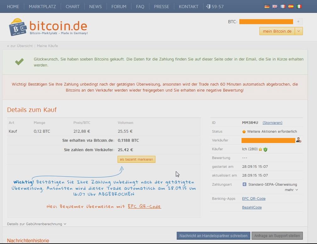 mit bitcoin bezahlen