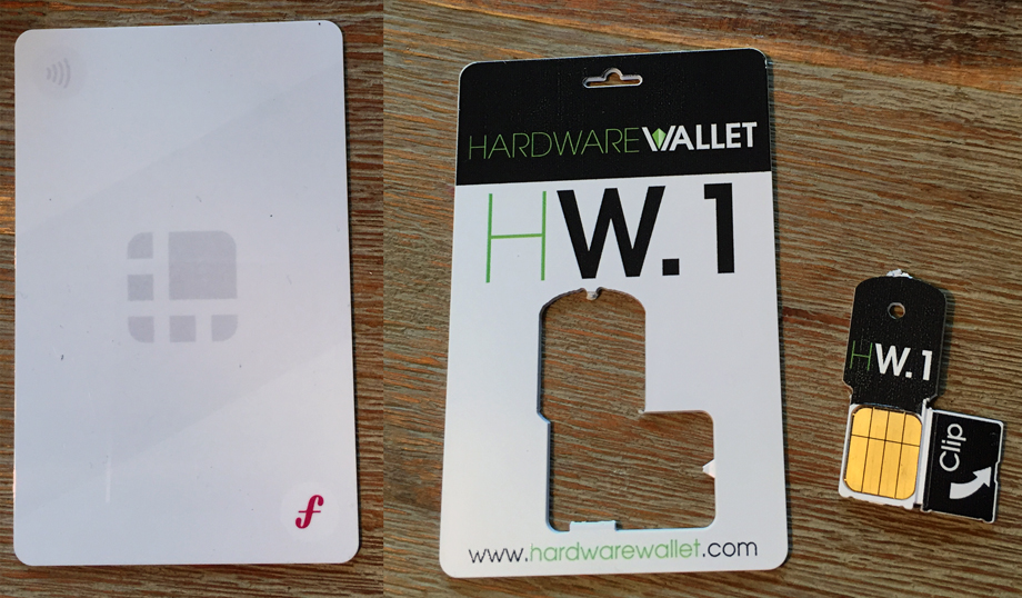 Ledger Wallet Unplugged (links) und Ledger Wallet HW.1 (rechts)