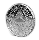 bitcoin-live Ethereum Classic Münze zum Sammeln und als Deko - Sammlerstück mit Schutzhülle / Münzkapsel