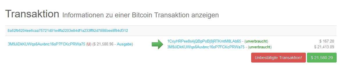 Bitcoin Transaktionen Live